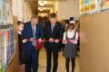 Церемония открытия отремонтированного спортзала в Унженской средней школе